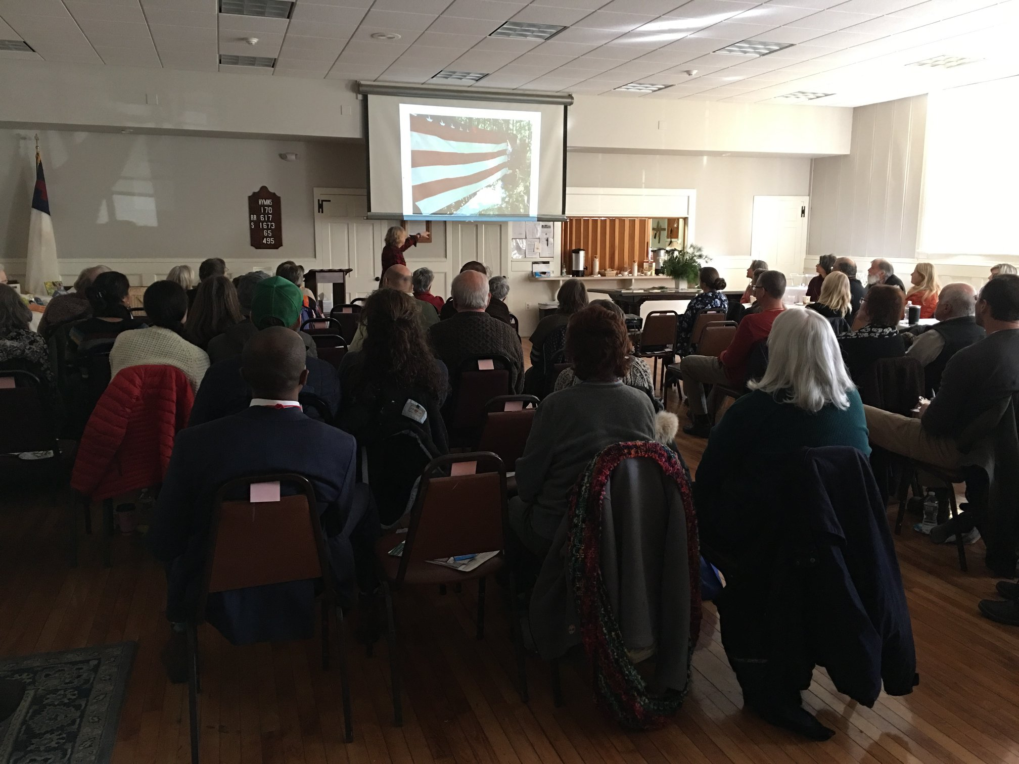 Author Ann Hoffner speaks at the Natural Burial Symposium hosted by SEMPBA on February 8, 2018.
